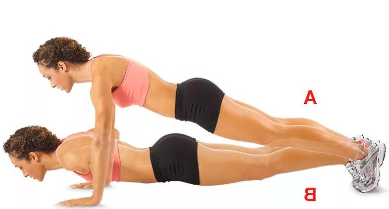 Фигура груша - правила похудение упражнение отжимания