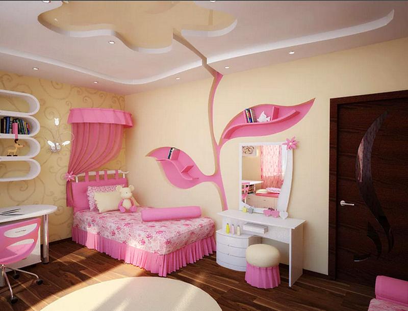 Детский интерьер девочкиной комнаты
