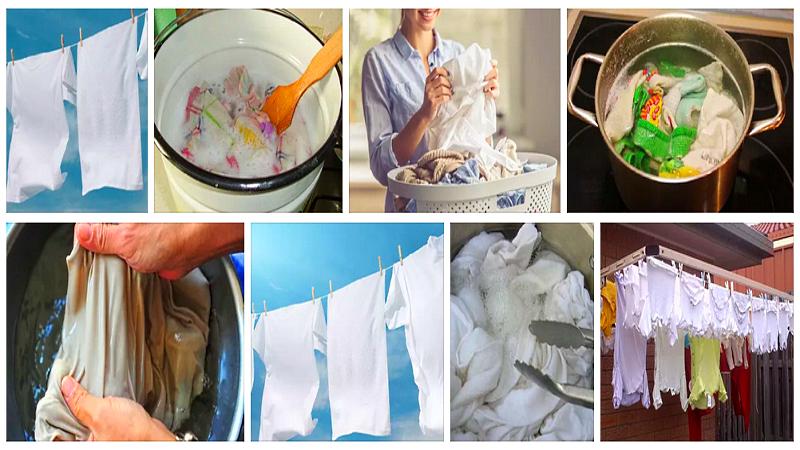 Кипячение одежды от жвачки