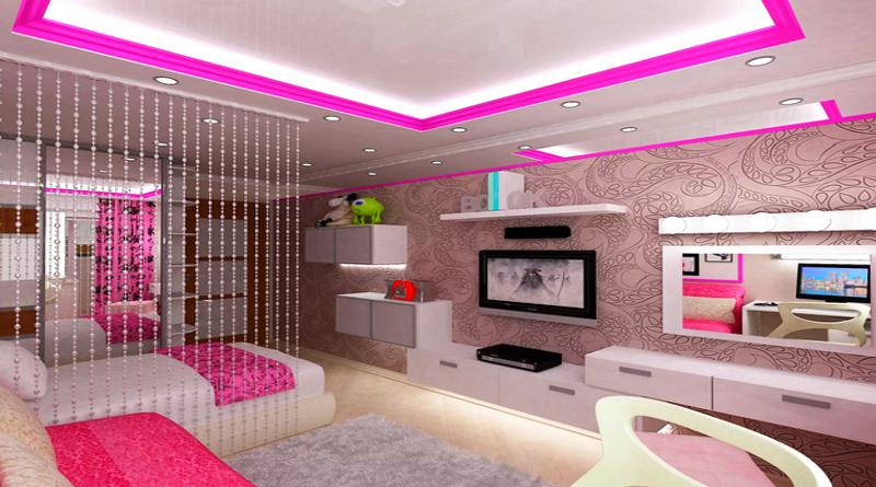 Оформление интерьера комнаты девочки