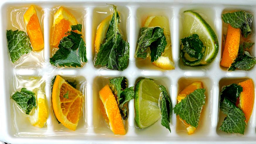 Косметический лед для лица с фруктами
