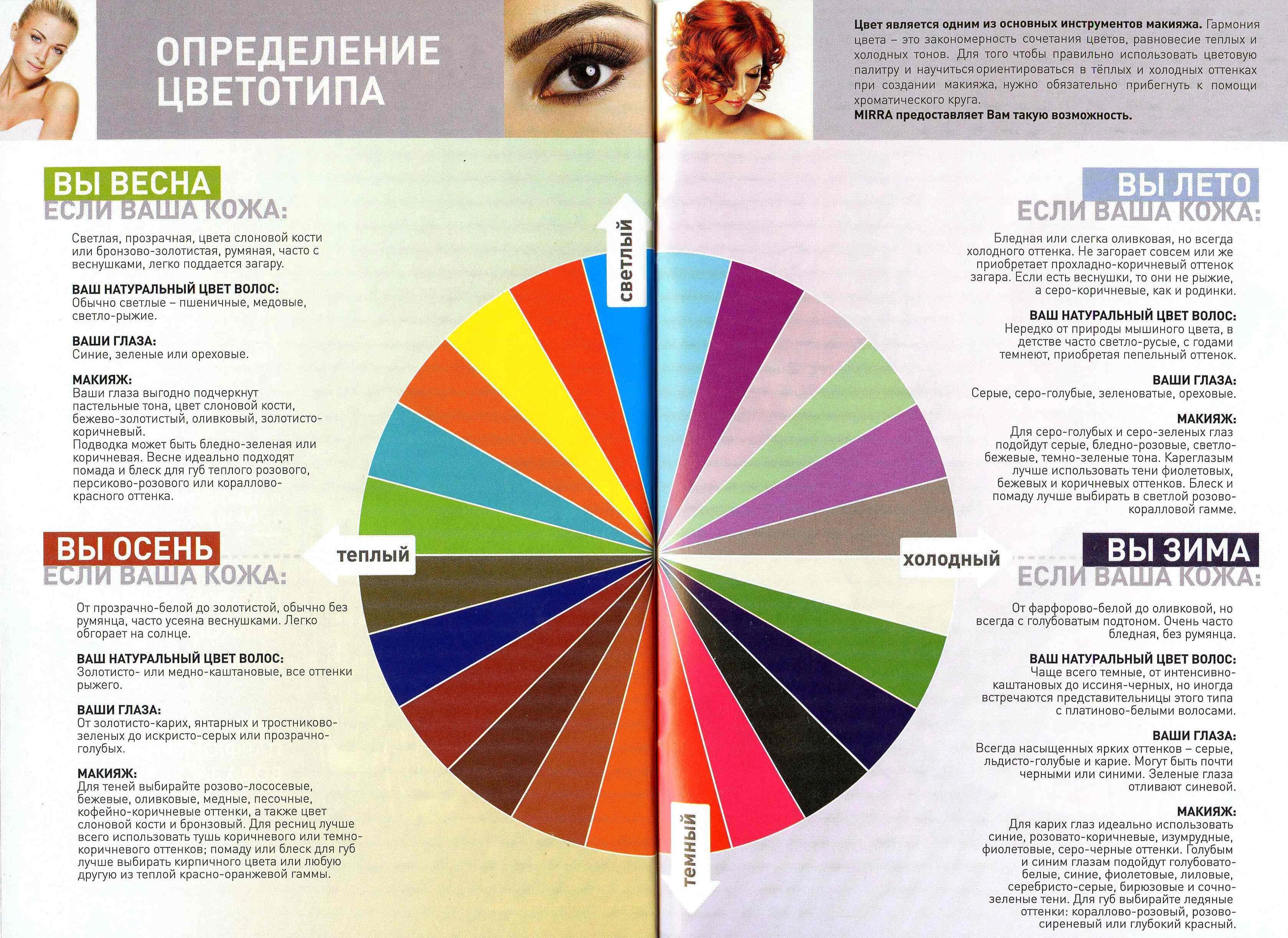 Макияж цвета для женщины