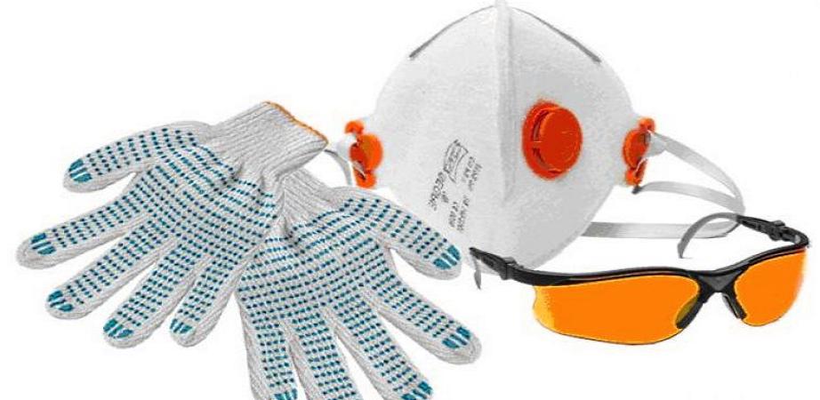 Средства защиты рук и лёгких при шпаклевании в квартире