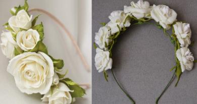 Свадебная шляпка-ободок своими руками