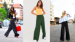С чем носить широкие женские брюки: укороченные, классические, с высокой талией