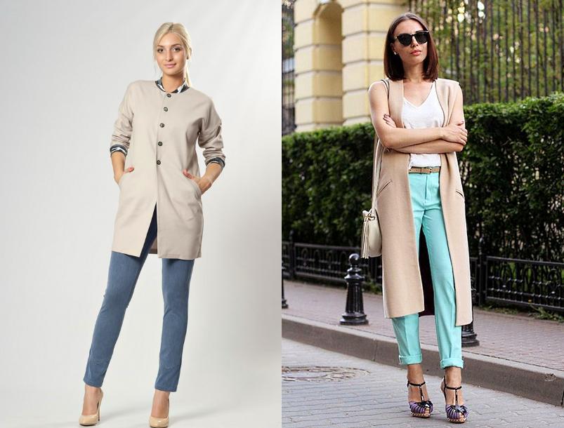Как носить летнее пальто с брюками