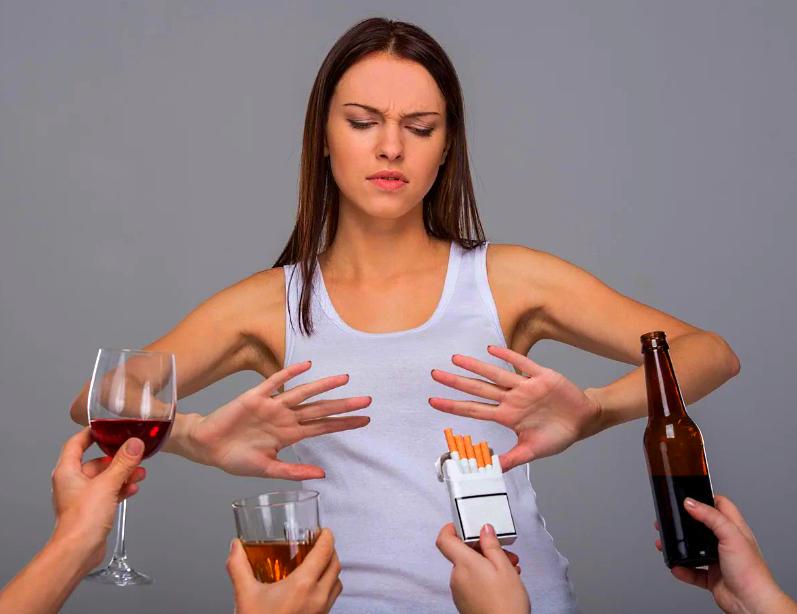 Отказ от алкоголя для увеличения груди