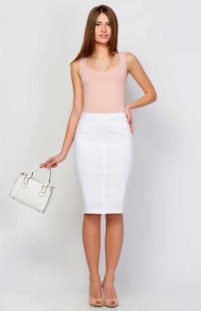 С чем носить кружевную юбку карандаш белую