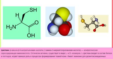 Что такое Цистеин аминокислота