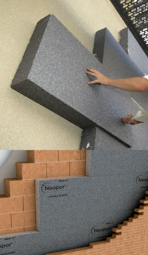 Утепление стен - графитовый пенополистирол Neopor BASF